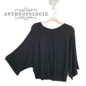 Maeve by Anthropologie Black Dolman Sleeve Sweater